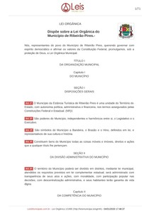 Lei Orgânica - Ribeirão Pires