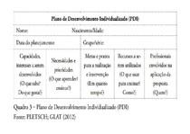 Esquema Plano de Desenvolvimento Individualizado