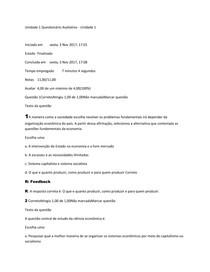 Perguntas e respostas - Economia EAD , 1° a 6° modulo