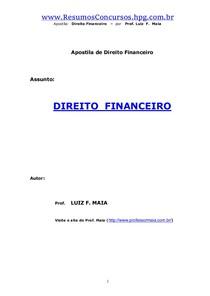 APOSTILA - Direito Financeiro