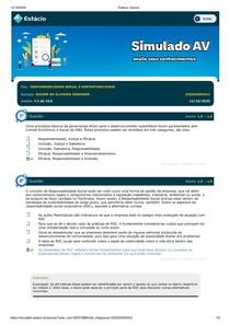 SIMULADO - RESPONSABILIDADE SOCIAL E SUSTENTABILIDADE