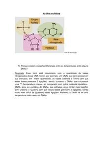 Questão Sobre Ácidos nucléicos