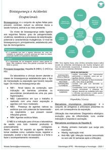 RESUMO MICROIMUNO - BIOSSEGURANÇA E ACIDENTES OCUPACIONAIS