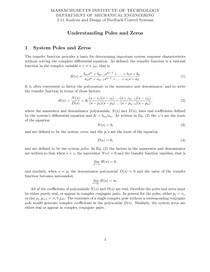Understanding Poles and Zeros