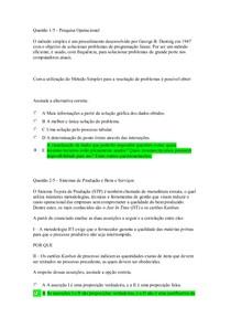 APOL 2 nota 100 Sistemas de Produção e Bens e Serviços   Pesquisa Operacional