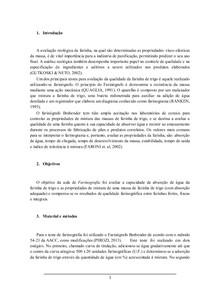 RELATÓRIO 1 - Farinografia