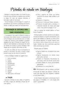 Métodos de estudo em Histologia (Cap. 1 - Junqueira e Carneiro 13ª ed.)