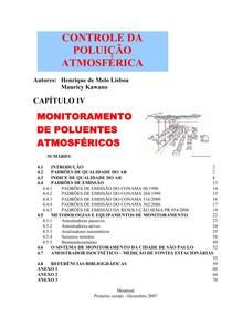 Capítulo IV   Monitoramento da qualidade do ar
