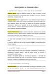 QUESTIONÁRIO DE PESQUISA CLÍNICA NP1