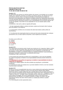 PROVA OBJETIVA GESTÃO DE RECURSOS HUMANOS . 100