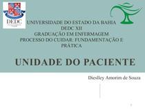 UNIDADE DO PACIENTE Dieslley