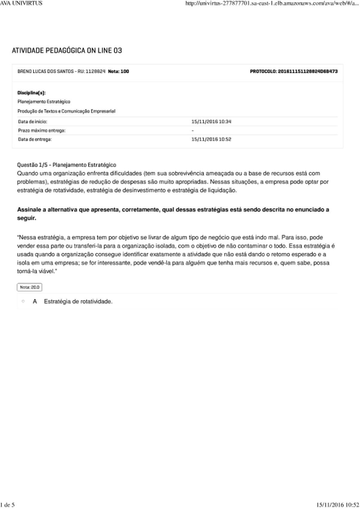 Pre-visualização do material APOL 3   PLAN.EST.PROD.TEXT.COM.EMP. - página 1
