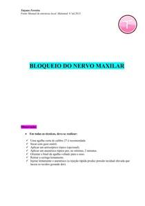 Resumo bloqueio do nervo maxilar - (Malamed)
