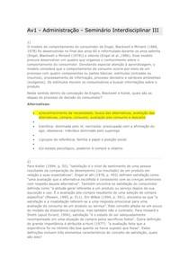 Av1 - Administração - Seminário Interdisciplinar III