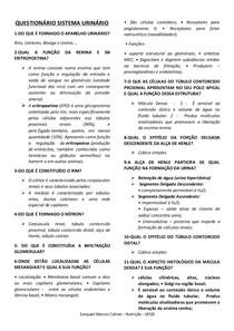 QUESTIONÁRIO SISTEMA URINÁRIO