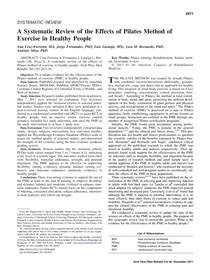Artigo - revisão sistematica (pilates)