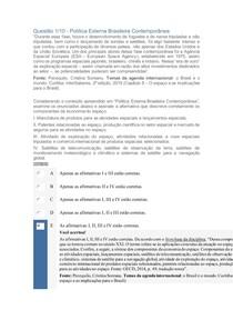 APOL2 POLITICA EXTERNA BRASILEIRA