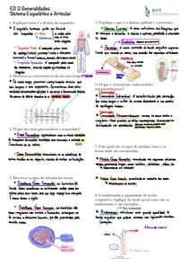 [QUESTÕES] Generalidades: Sistema Esquelético e Articular