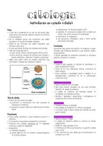 Citologia - Introdução ao estudo celular