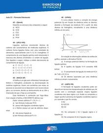 Lista 10 Fórmulas Estruturais