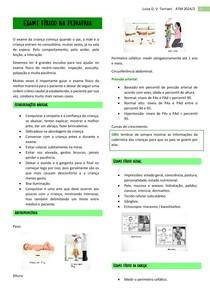Exame físico na pediatria
