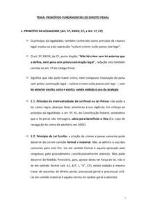 Penal I - Principios