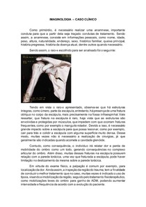 ATIVIDADE DE IMAGINOLOGIA - CASO CLÍNICO