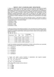 Química II - Lista 09