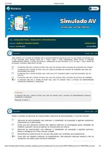 AV1 LEGISLAÇÃO FISCAL, TRABALHISTA E PREVIDENCIÁRIA
