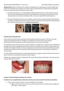 REGISTRO DA RELAÇÃO CÊNTRICA