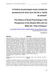 """a historia da psicologia social contada da perpectiva do aluno que não fez """"a tarefa de sempre"""""""