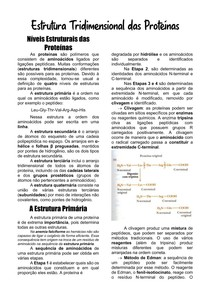 Estrutura Tridimensional das Proteínas