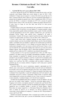 Resumo: Cidadania no Brasil José Murilo de Carvalho Cap. III