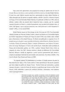 resenha do capítulo dois do livro O Grande Massacre de Gatos e outros episódios da história francesa, do autor Robert Darnton
