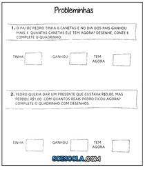 atividades-com-probleminhas-simples-de-matematica-para-educacao-infantil-para-imprimir-de-adicao-e-subtracao-www soescola com-