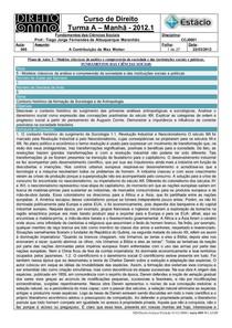 CCJ0001-05-Resumo de Aula-Fundamentos das Ciências Sociais (22-03-2012)