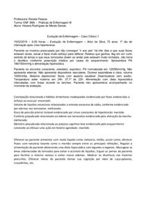 EVOLUCAO DE ENFERMAGEM