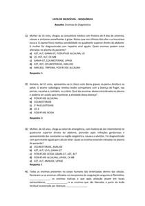 Lista de Exercícios - Enzimas do Diagnóstico (Casos Clínicos)