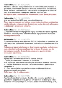 AV1 Metodologia da Pesquisa 2014-1 - (Sistemas de Informação)