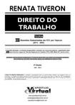 COLETANIA - QUESTÕES PARA ESTUDO GABARITADAS DIREITO DO TRABALHO