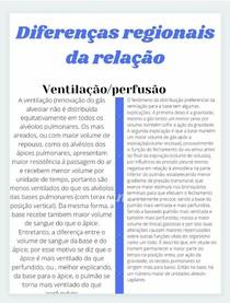 Resumo de Pneumologia Ventilação e perfusão
