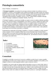 Psicologia comunitária – Wikipédia  a enciclopédia livre
