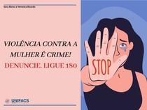 Violência contra a mulher - folder