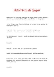 Advérbios de Lugar