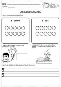 atividades matematica numeros e quantidades II