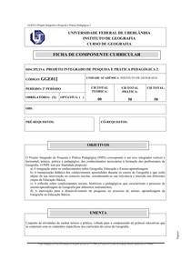 GGE012 Projeto Integrado Pesq. Prat. Ped. 2
