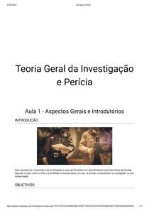 Conteúdo Investigação forense e perícia criminal