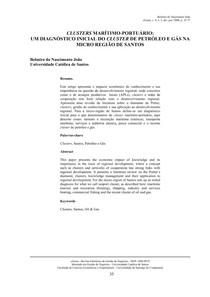 CLUSTERS MARÍTIMO-PORTUÁRIO LIDO E GRIFADO