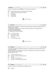 avaliação linguagem de programação 1