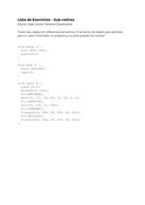 Exercícios Resolvidos - Sub-rotinas (Linguagem Processing)
